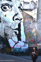 Un portrait géant sur les murs de Beaubourg