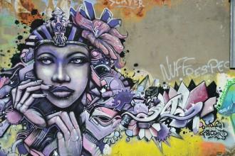 Lady en mode street art